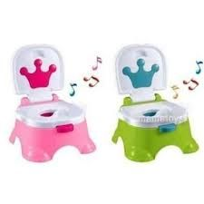 Музыкальный детский горшок 025/025G Розовый и зеленый