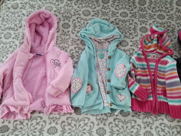 Bluzy 86-92, sweterki dziewczynka