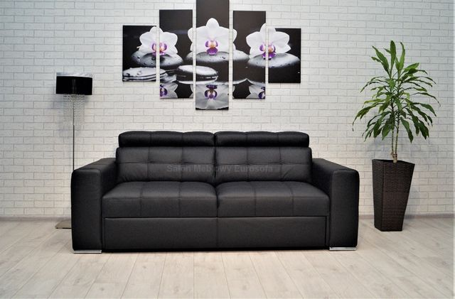 Sofa 3os. IR 194cm skórzana skóra naturalna, różne kolory