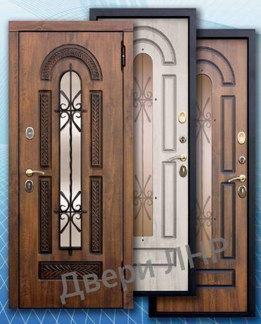 """Двери входные стекло+ковка+патина """"Vikont""""- 95мм.!"""