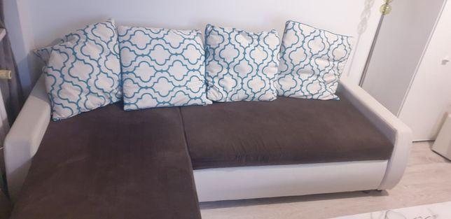 Rogówka sofa kanapa narożnik z funkcją spania