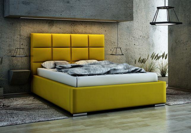 Łóżko Tapicerowane Sypialniane PREST 160 ze stelażem metalowym i poj.