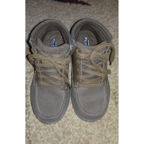 Туфли кеды замшевые Skechers 19.5 см по стельке + подарок