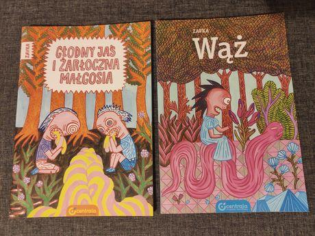 Głodny Jaś i żarłoczna Małgosia Zavka Wąż zestaw nowe komiksy