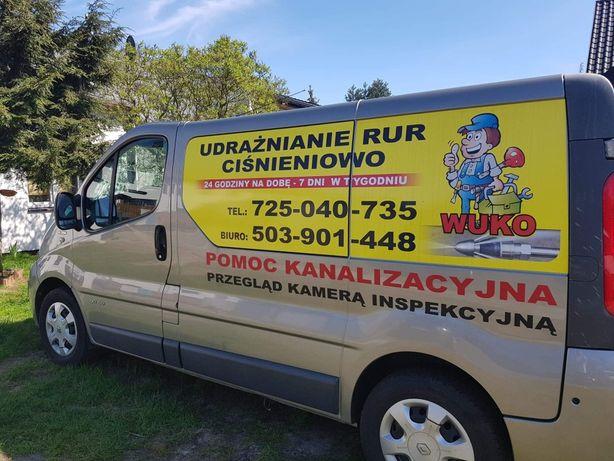 Udrażnianie Rur  czyszczenie rur kanalizacji Hydraulik Kamera TV Wuko