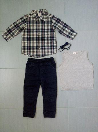 r. 86 elegancki zestaw dla chłopca H&M