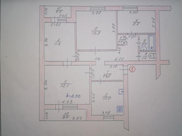 Продам терміново 4 х кімнатну квартиру з автономним опаленням