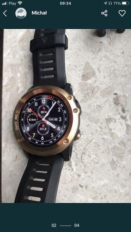 Super nowoczesny smartwatch sportowy Garett w11 złoty GPS Sim