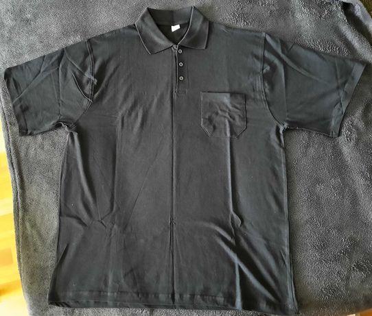 Czarna koszulka polo, XXXL, WYPRZEDAŻ