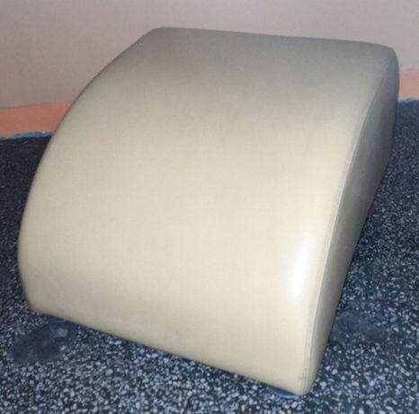 Skórzana pufa - podnóżek do fotela