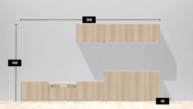 Meble zestaw IKEA jak nowe, kolor dąb sonoma