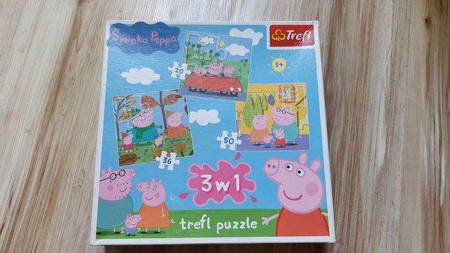 Puzzle Trefl Świnka Peppa 3w1
