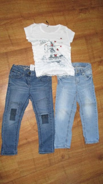 Zestaw jeansy +bluzeczka 92/98 cm dla dziewczynki