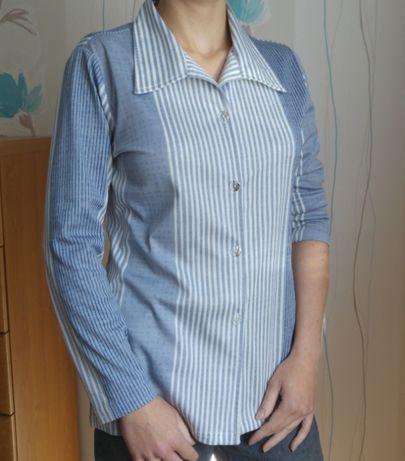 koszula bluzka damska z kołnierzykiem