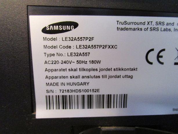 TV LCD SAMSUNG LE32A557 - venda de peças