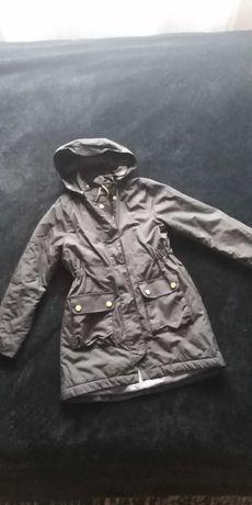 Czarny płaszczyk kurtka 140cm H&M