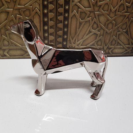 home&you Paper Longdog Figurka Nowa Srebrna