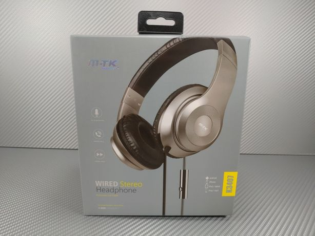 Headphones Wired Headset and Micro K3407 Gold (PC/PS4/Xbox One)