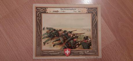Dyplom strzelecki przedwojenny Szwajcaria