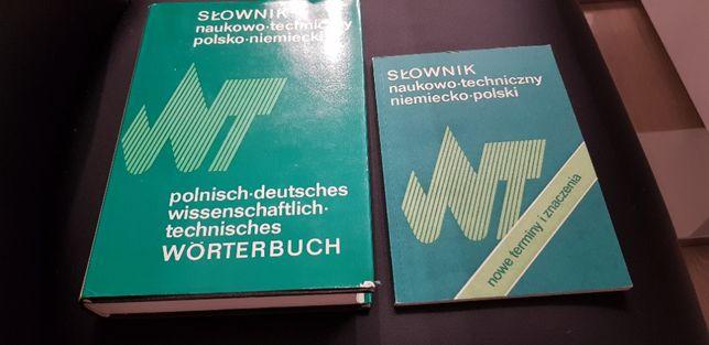 slownik naukowo- techniczny polsko- niemiecki i niemiecko polski