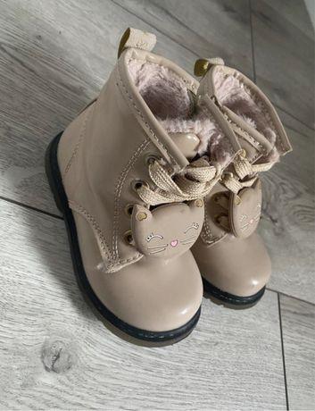 Buty zimowe traperki botki kozaczki kotek
