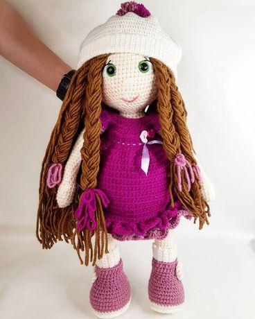 Шикарная, качественная вязанная кукла. 59 рост, ширина 29