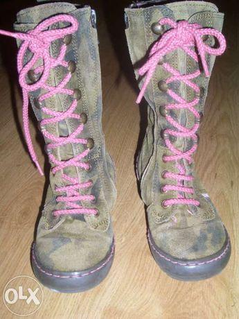 Bajeranckie buty dziewczęce, oficerki rozmiar 24