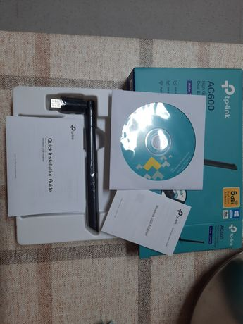 Adaptador USB TP-Link Archer T2U Plus Dual Band Wireless AC600.