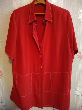 Блуза алого цвета 56-58 размера (укр)