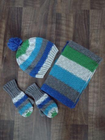 Komplet czapka szalik i rękawiczki