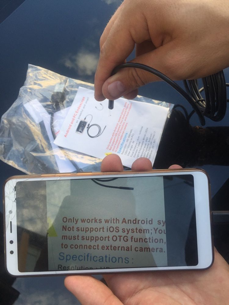 Не подделка Smart Cam 2м ЭНДОСКОП фото видео 1280*720 ендоскоп
