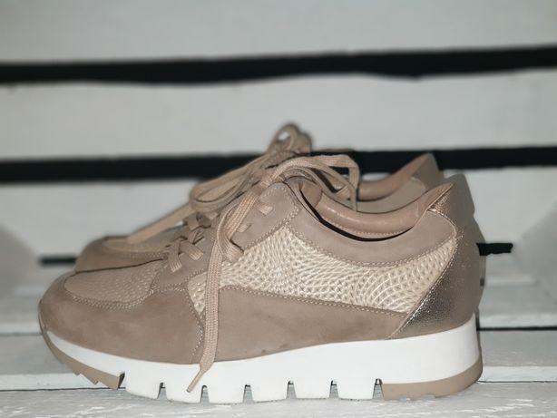 KATI adidasy sneakersy damskie skóra roz.36 beż