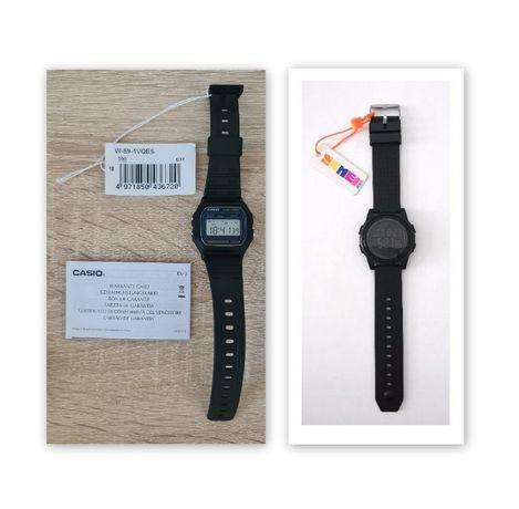 2 szt. komplet nowy zegarek CASIO W-59-1VQES + SKMEI #1206