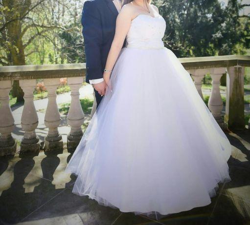 Suknia ślubna r.36-40 + gratisy