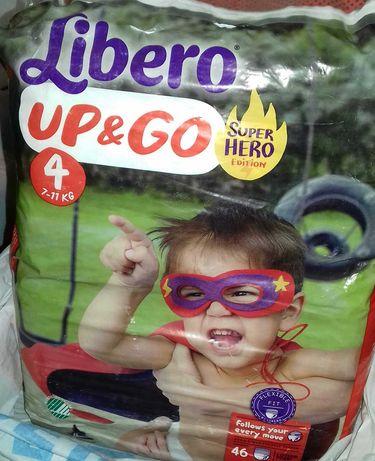 Подгузники Libero UP&GO Super HERO edition 4 7-11kg.