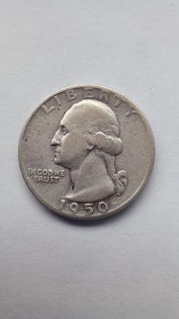 """1/4 dolara USA 1950 r. """"D"""" Denver"""