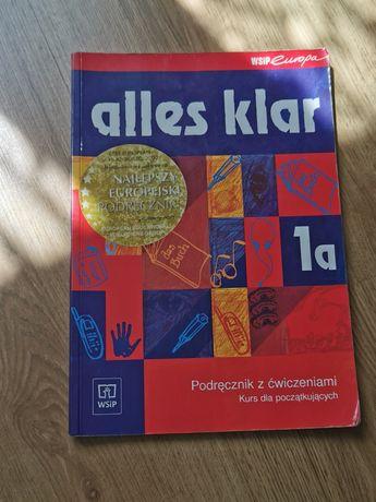 Podręcznik z ćwiczeniami do niemieckiego - Alles Klar 1a