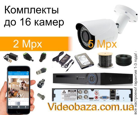 Готовый комплект видеонаблюдения на 1 Full HD камеру 2.1mpix Sony 323!