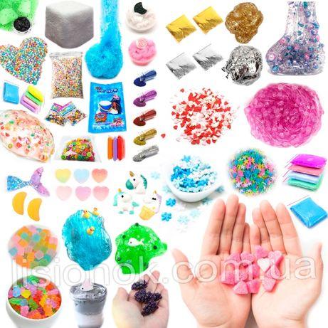 Набор всех добавок для слаймов slime box, шармики, посыпки, снег