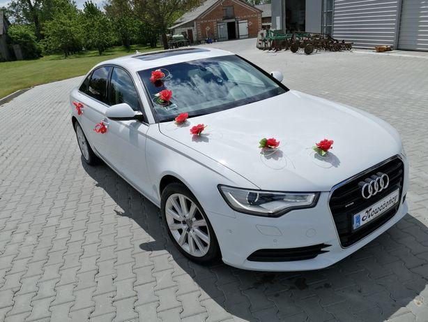Auto do ślubu Audi A6 C7 2014r 2.0 BIAŁE