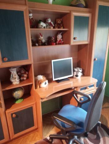 Meble do pokoju dziecięcego cały komplet biurko szafa