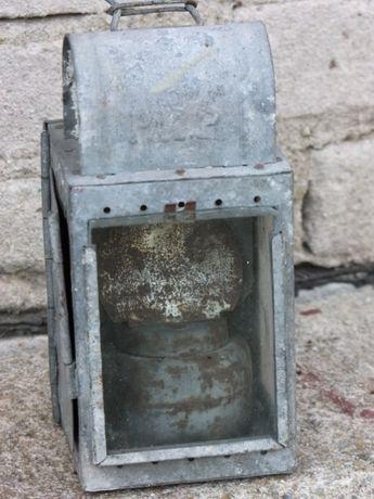 Stara lampa kolejowa - karbitówka