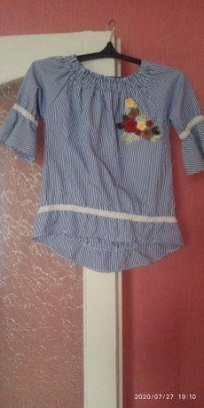 Блузка для девочки 8-10 лет.Рост 134-140.