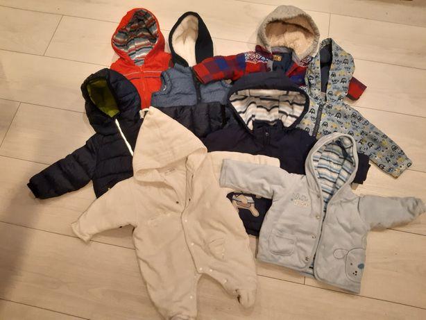 Kombinezon, kurtki, bezrękawniki, czapki i szaliki