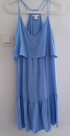 Niebieska sukienka ciążowa H&M mama S