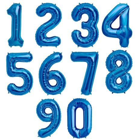 Цифра синяя 100 см,1 метр для гелия и воздуха.(шарики,декор, фотозона)