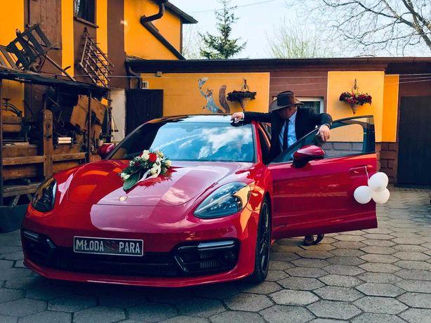 AUTO DO ŚLUBU - NOWE PORSCHE PANAMERA GTS 550km  / bentley, czerwone