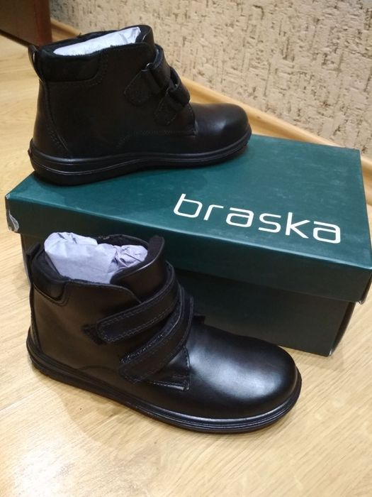 Новые осенние ботинки Braska кожа Бровары - изображение 1