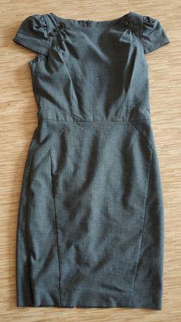 Sukienka szara do pracy rozmiar 40 L
