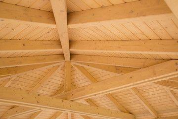 Drewno BSH klejone warstwowo na pergolę tarasową. Śląsk. Mikołów.